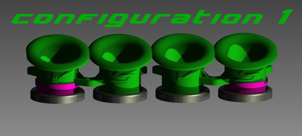 Kawasaki zx r velocity stacks air funnel bell mouth set